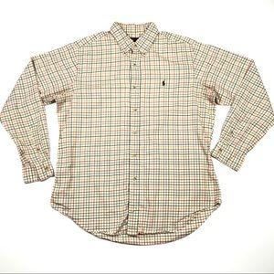Ralph Lauren Classic Fit Plaid Long Sleeve Shirt